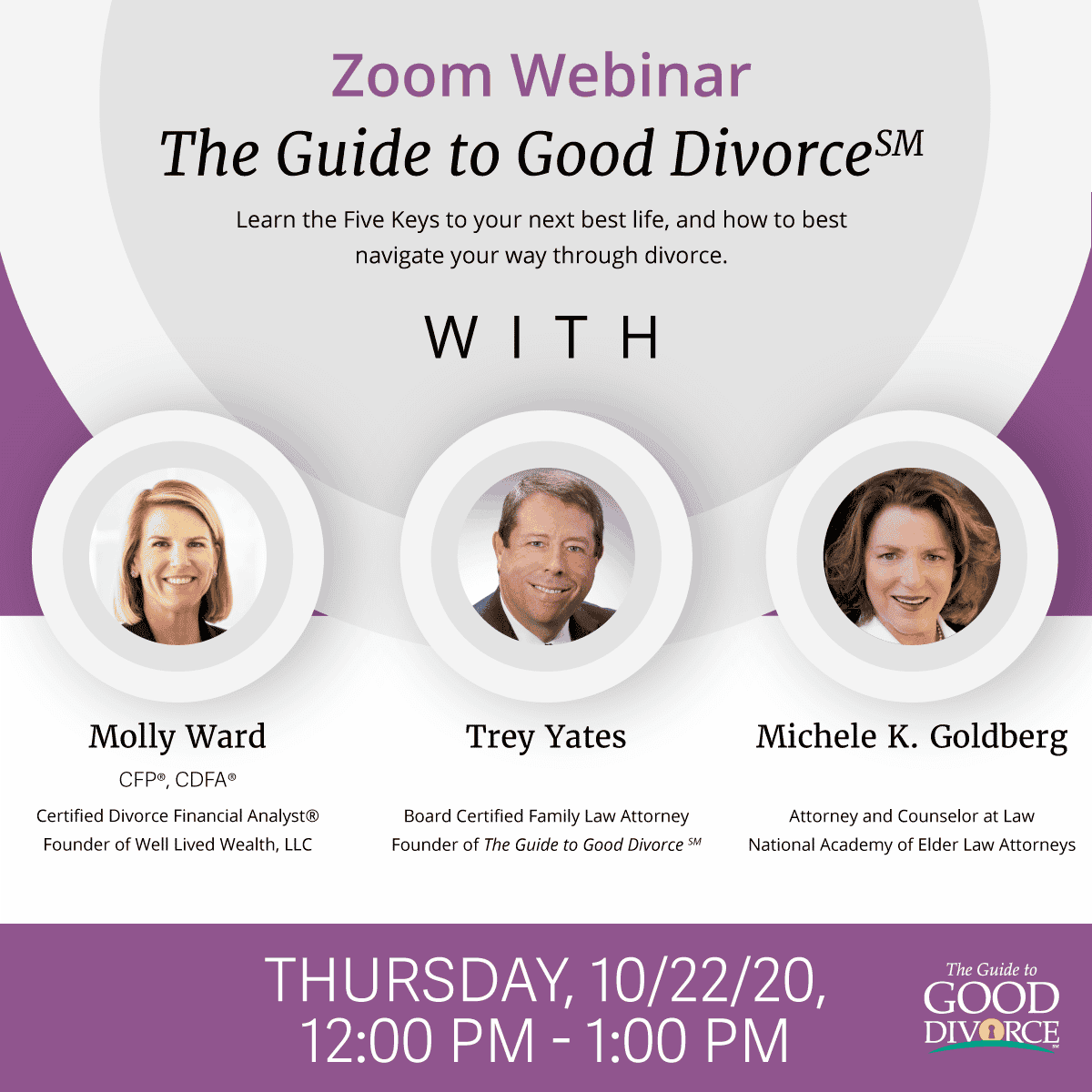 The Guide To Good Divorce℠ 10/22/20 Zoom Webinar: Special Considerations For Special Needs